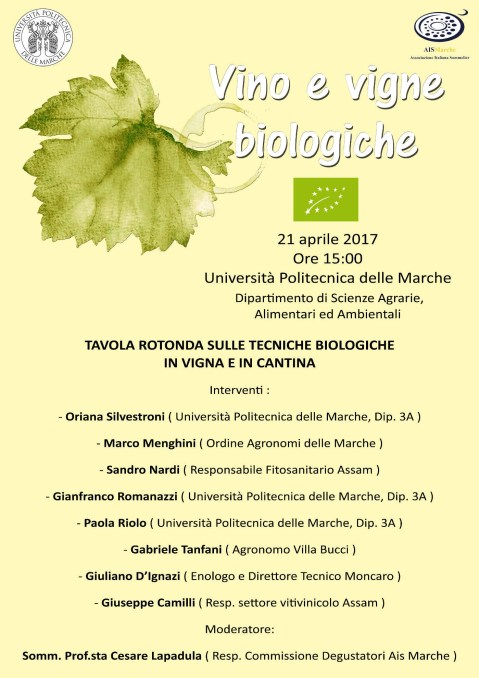 Tecniche Biologiche in Vigna ed in cantina