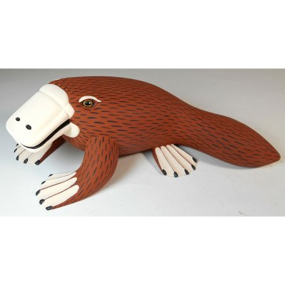 Oaxacan Wood Carving Ariel Playas: Platypus Oaxacan Woodcarving
