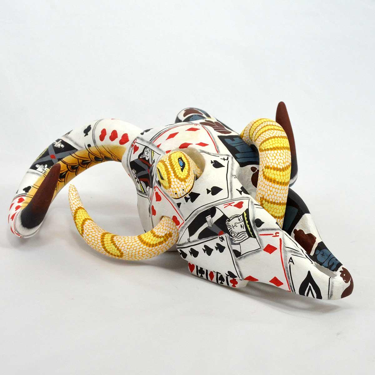 Eleazar Morales Eleazar Morales: Bighorn Skull with Yellow Snake Bighorn Sheep
