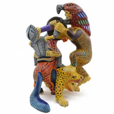 Agustín Cruz Prudencio Agustín Cruz Prudencio: Warrior & Conquistador Single Piece carving explorations