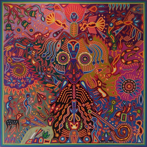 "Wixárika (Huichol) Art Luciana Benitez Renteria: Premier 48 "" Huichol Yarn Painting Huichol"