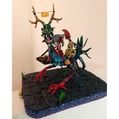 """Folk Art Isaias Alejandro Morales Delgado: """"Pulquero"""" Alebrije Paper Figure cartoneria"""