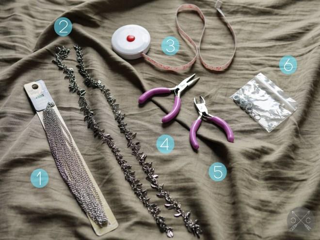 DIY Head Chain Supplies
