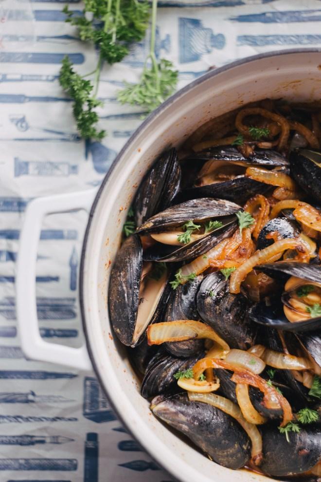Tomato Chorizo Mussels | Cultural Chromatics-4
