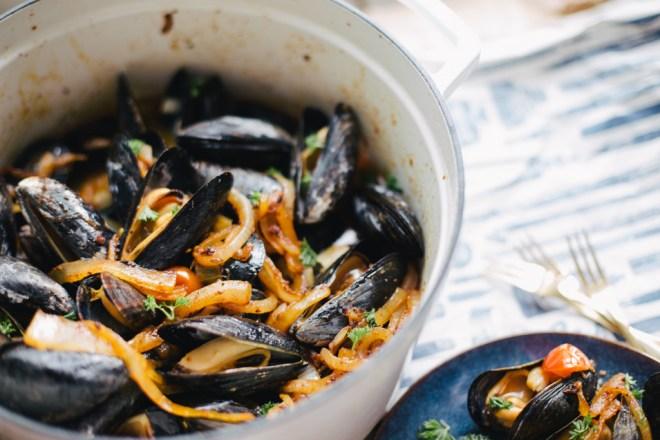 Tomato Chorizo Mussels | Cultural Chromatics-8