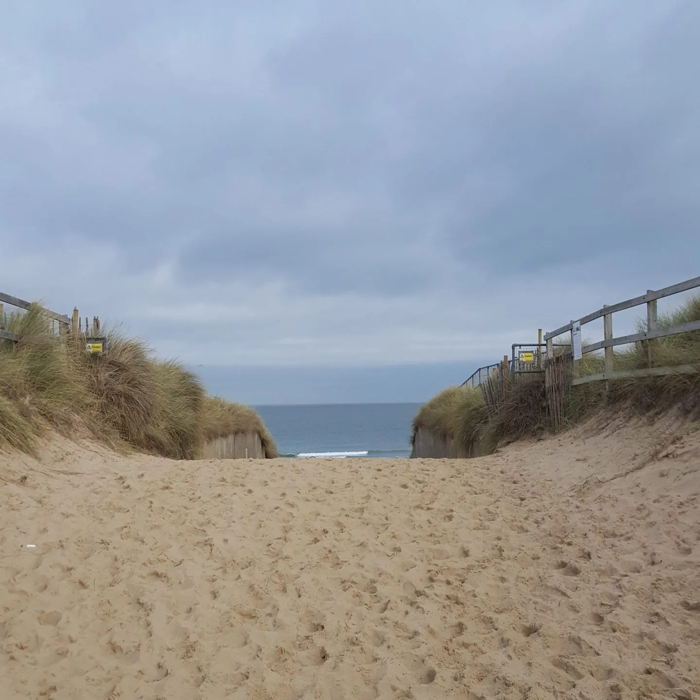 Horsey Gap sand dune with a sea view