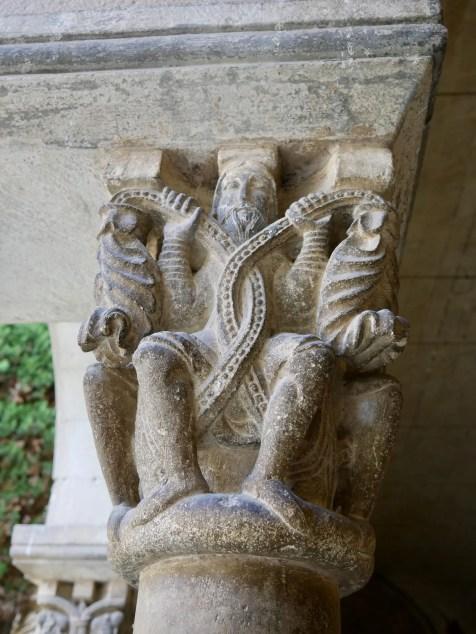 Carved corbel Sant Cugat Monastery