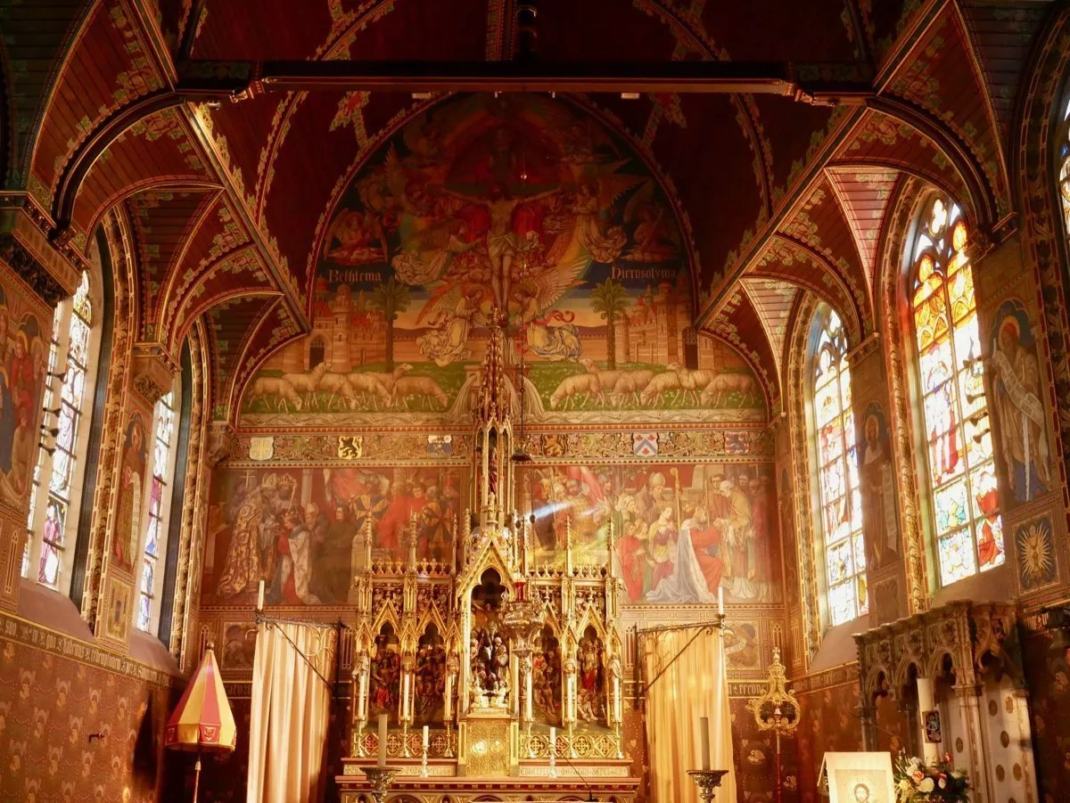 Holy Blood Basilica Bruges interior