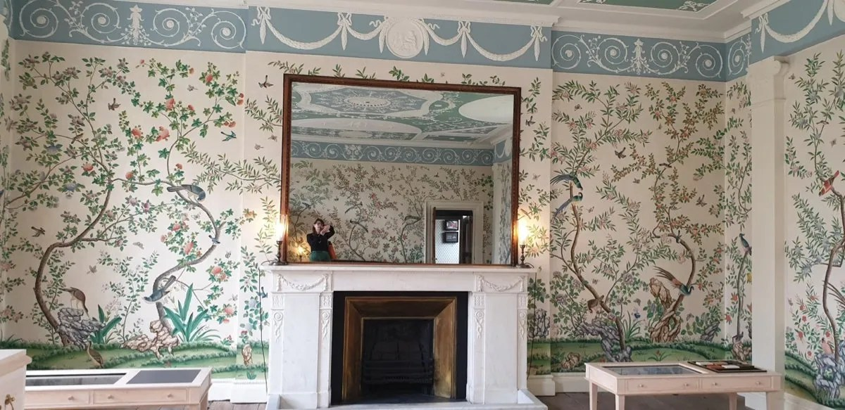 Pitzhanger Chinese hand painted wallpaper