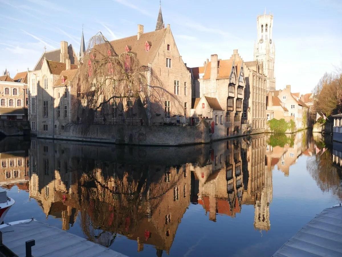 Rozenhoedkaai reflection Bruges