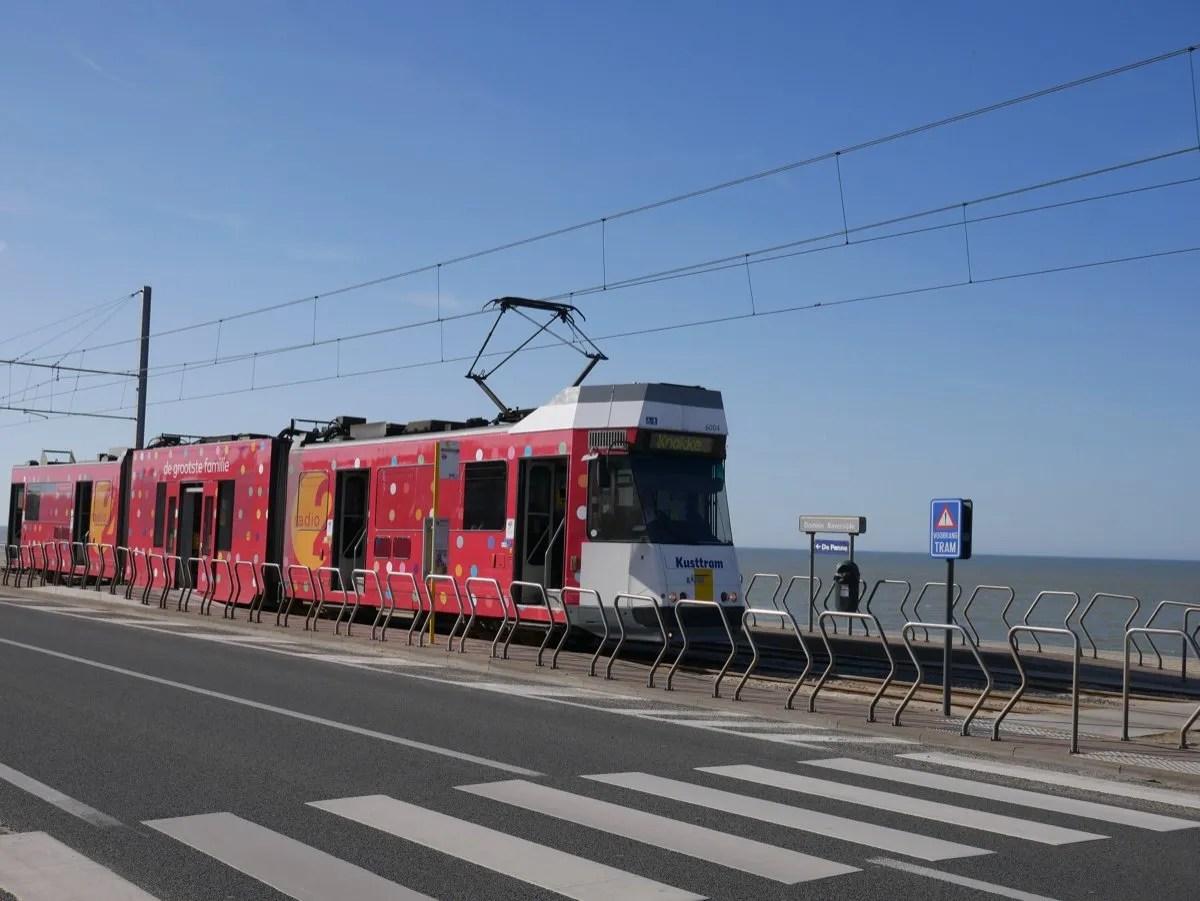 Belgian Coastal Tram by sea