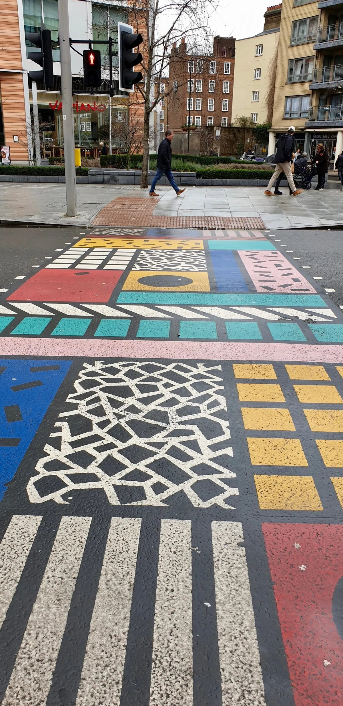 Colourful pedestrian crossing London