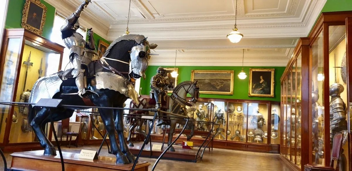 Horse and rider wearing armour Wallace Collection London