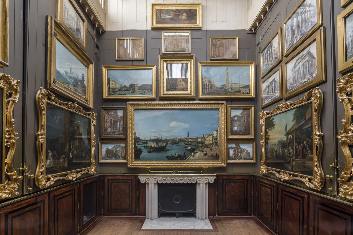 Canaletto in the Picture Room at Soane Museum