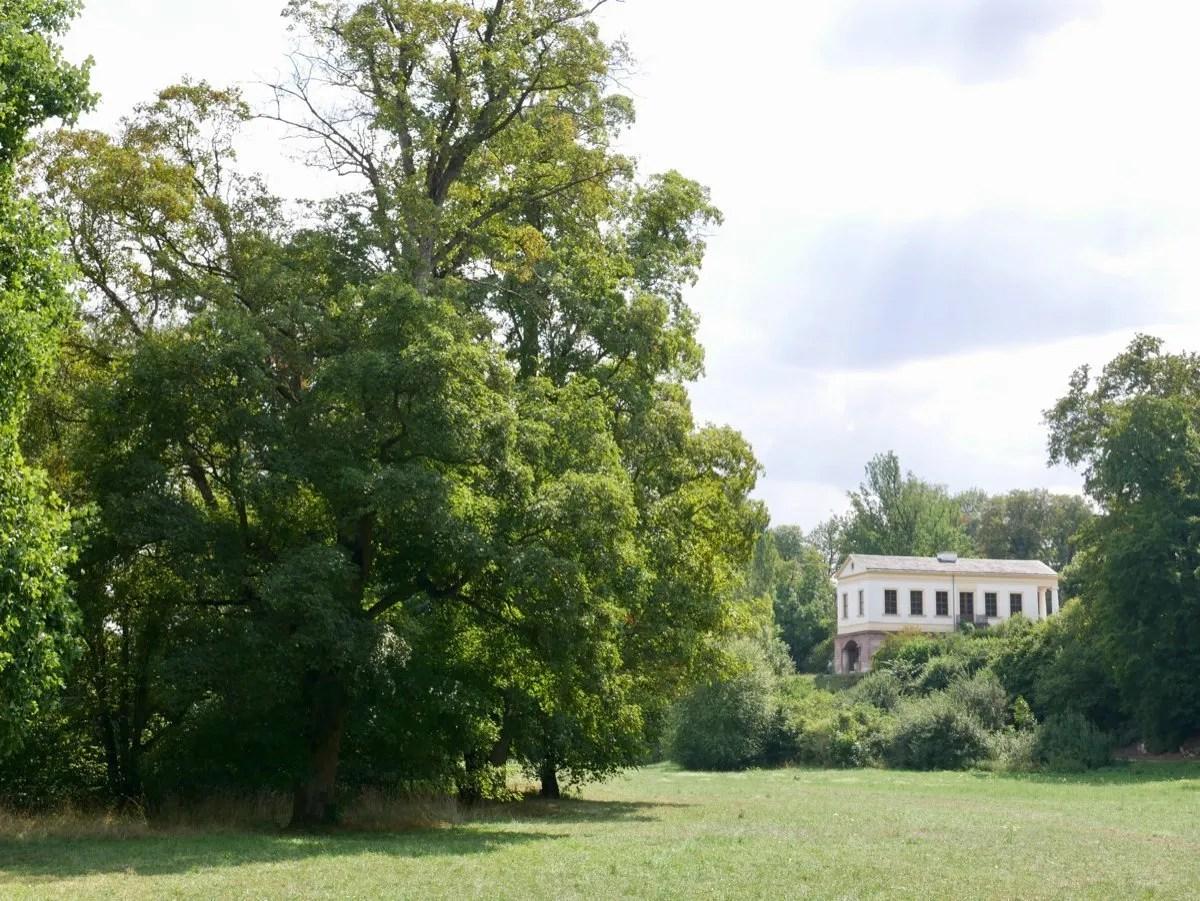 Roman style villa in parkland