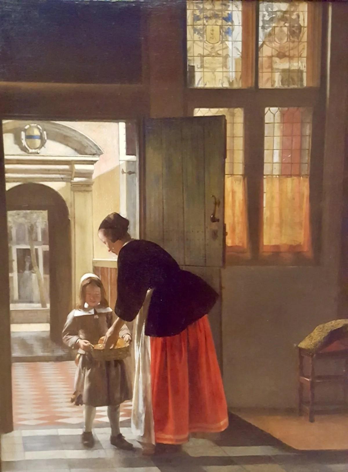 A Boy Bringing Bread painting by Pieter de Hooch