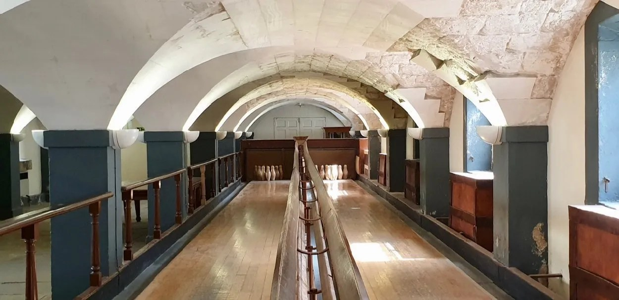 Victorian Skittle Alley Old Royal Naval College Greenwich