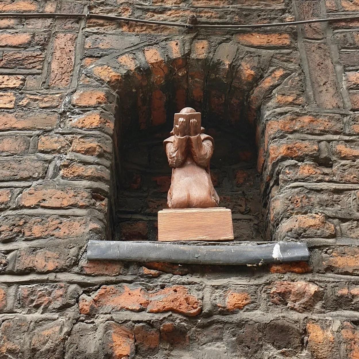 Kneeling figure of St Bruno London Charterhouse