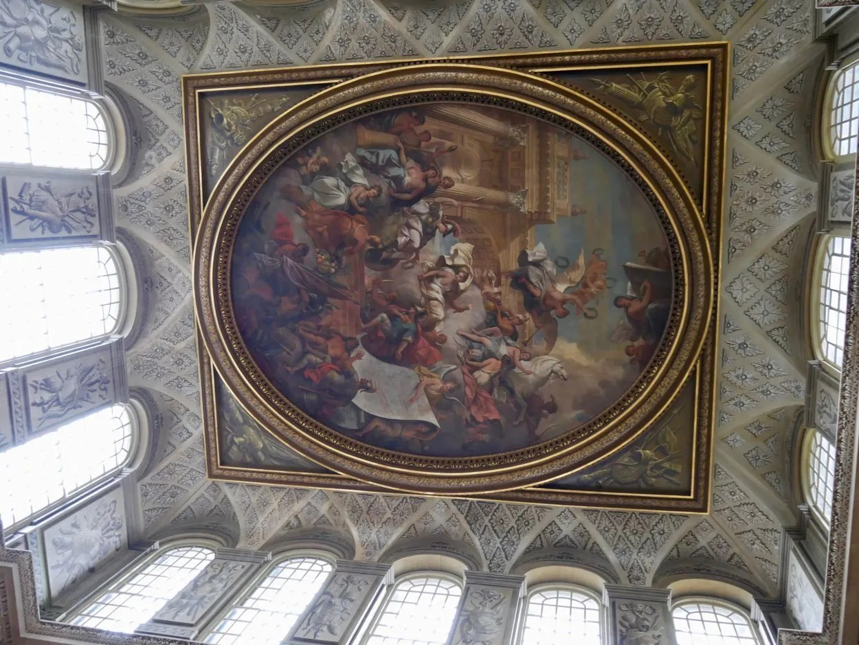 Thornhill painted ceiling Blenheim showing Queen Anne as Britannia