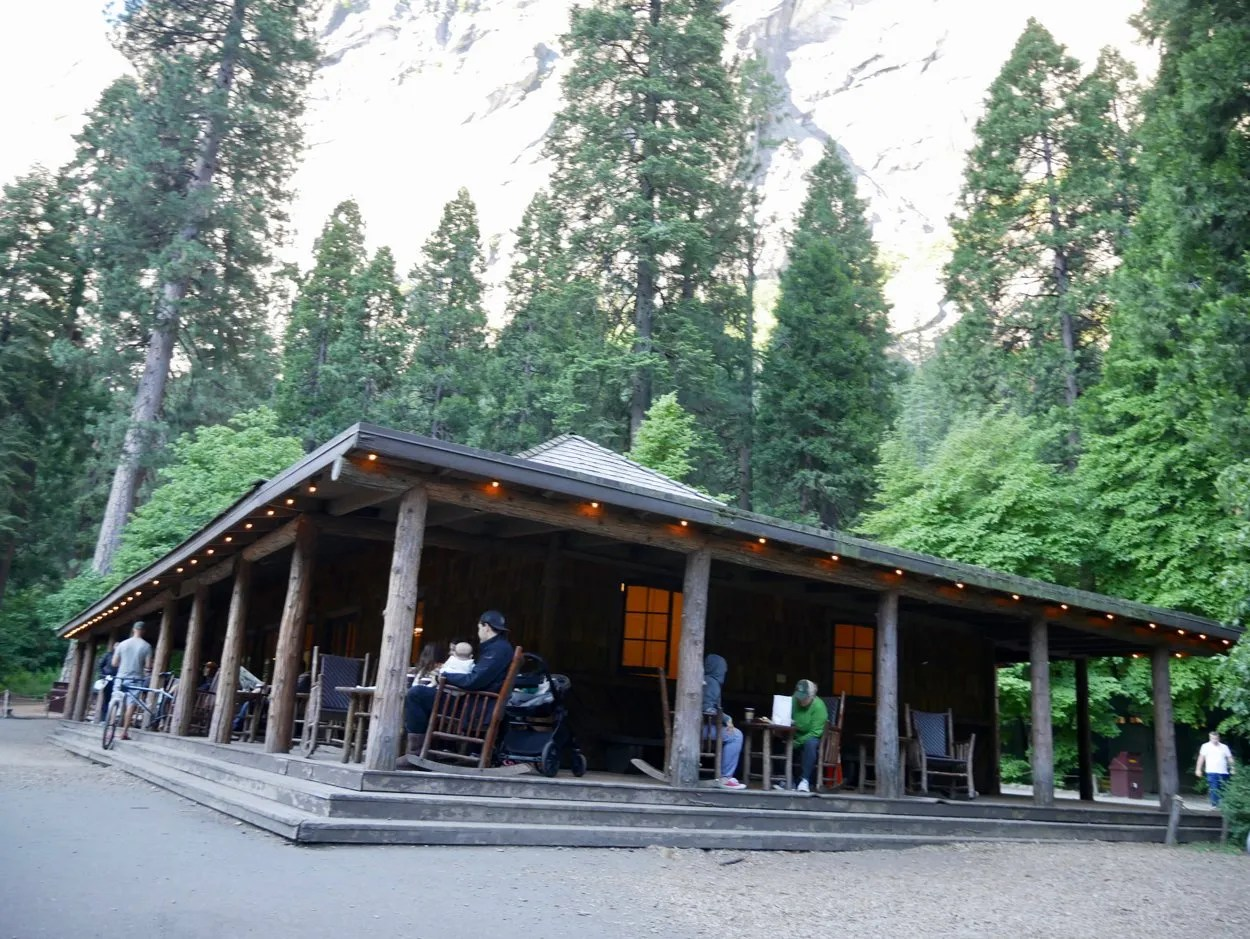 Wooden Guest Lounge building Yosemite