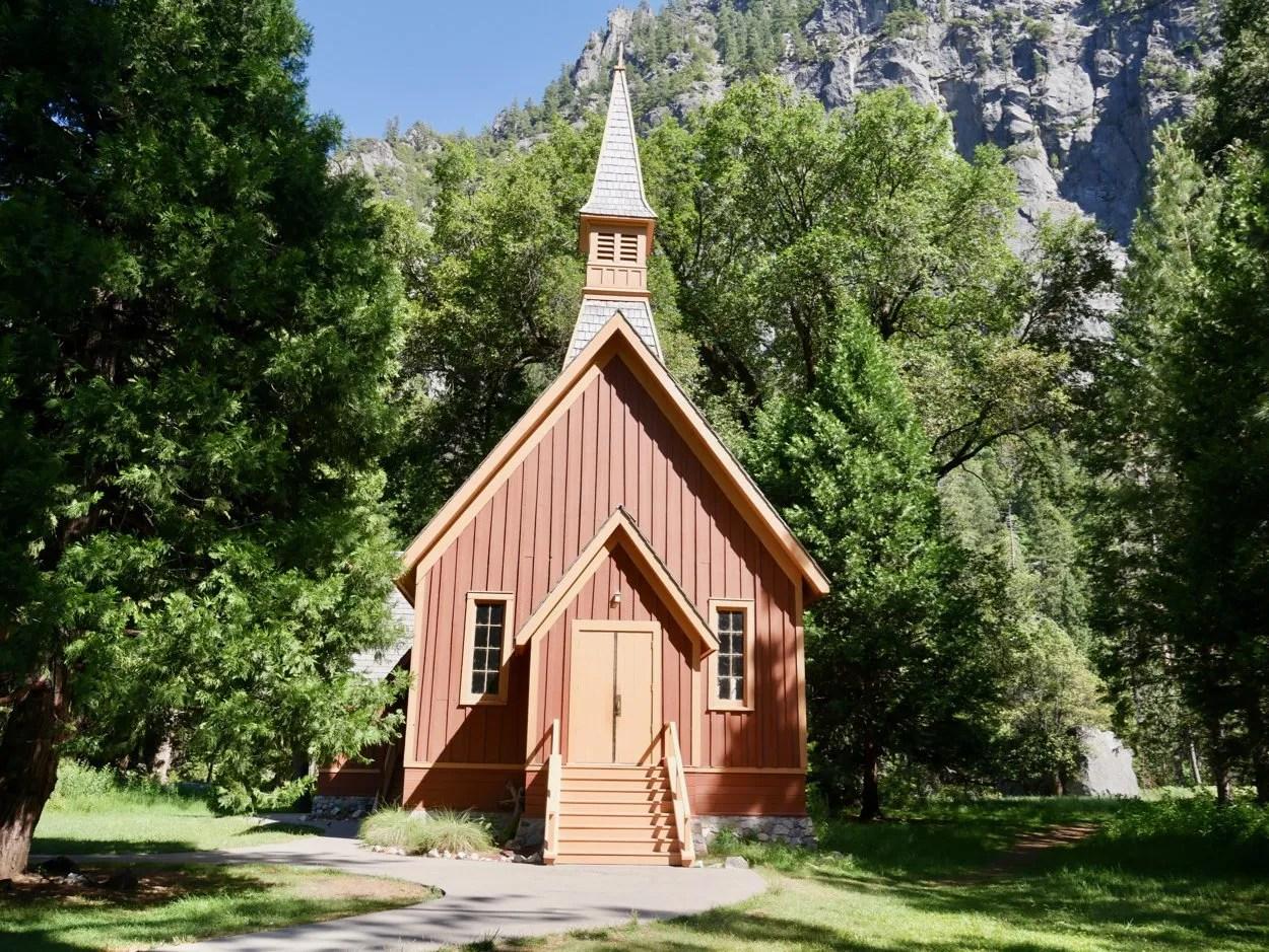 Wooden church Yosemite Valley