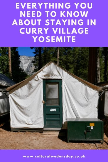 Staying in Curry Village Yosemite everything you need to now about staying in a tent cabin in Curry Village, is there wifi, are there electrical sockets, it it cold? #Yosemite #FamilyTravel #TravelTips #NationalParks
