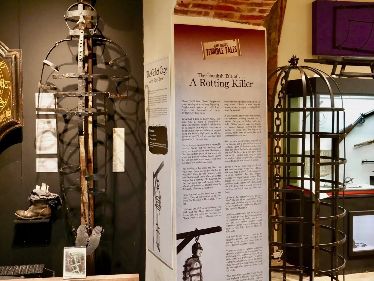 17th century gibbet cage with modern reproduction