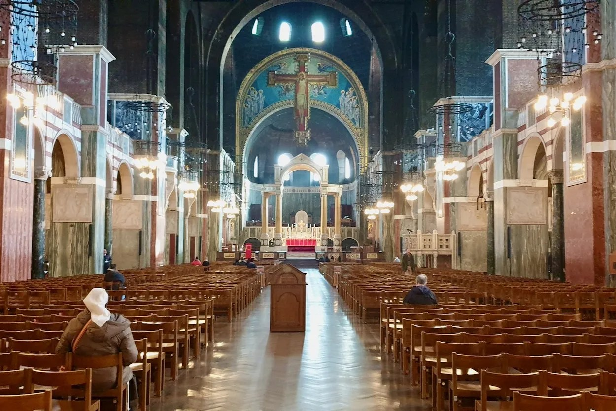 Nave and Altar of Westminster Cathedral London