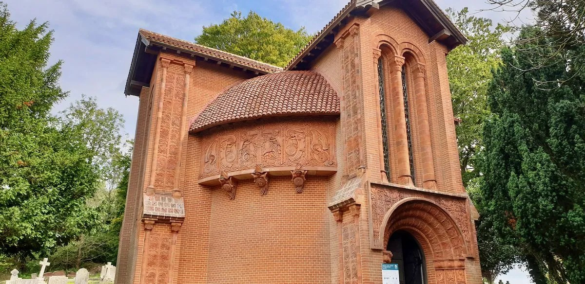 Exterior Watts memorial chapel Surrey