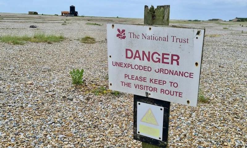 Danger Unexploded Ordnance sign