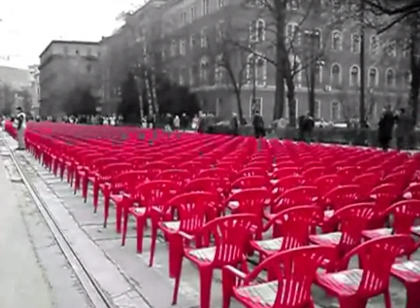 red chairs sarajevo most expensive chair sold ado hasanovic of