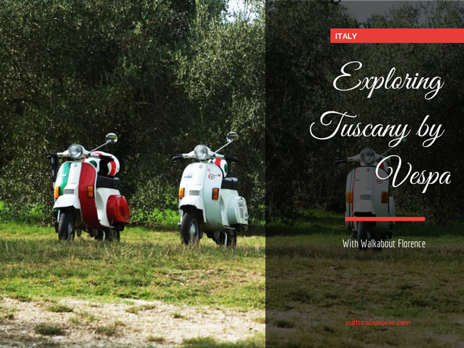 Exploring Tuscany by Vespa