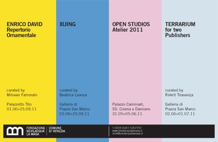 FONDAZIONE BEVILACQUA LA MASA: Da Giugno a Settembre quattro iniziative in concomitanza alla Biennale di Venezia