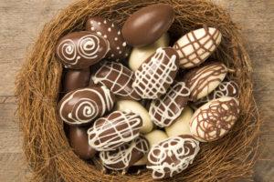 Uova di cioccolata.