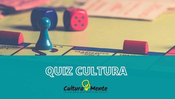 Quiz cultura generale