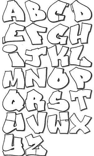 Cool Graffiti Abc Coloring Pages
