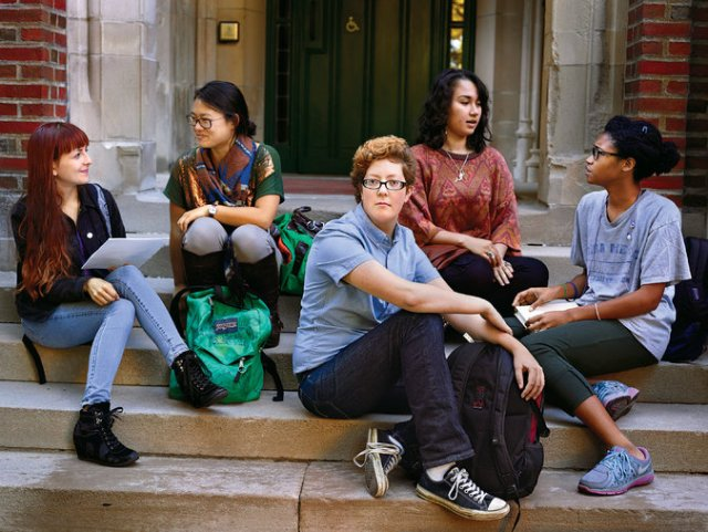 Studente (?) d ela Wellesley. Foto NYTimes