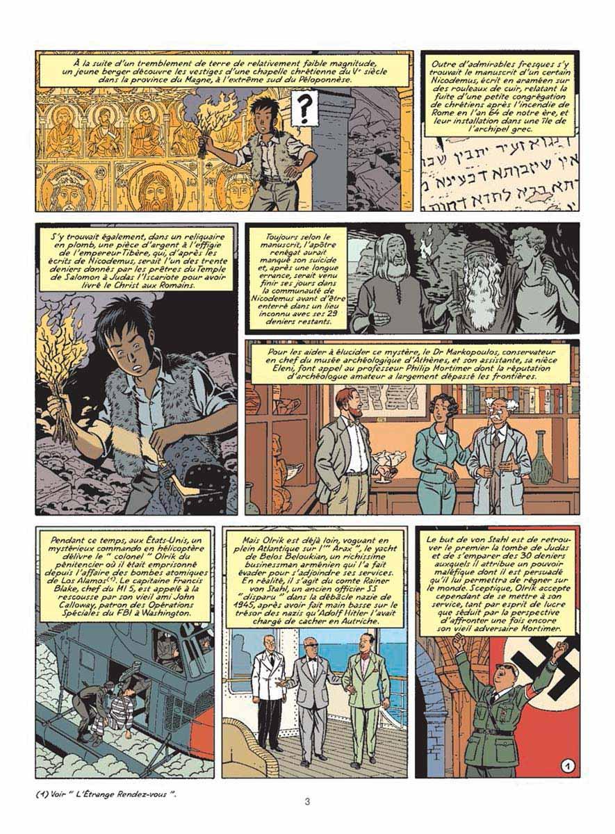 page de la BD Blake et Mortimer