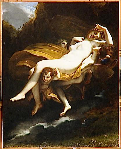 P.-P. Prud'hon, L'enlèvement de Psyché. Salon des artistes français, Paris, 1808. Louvre.