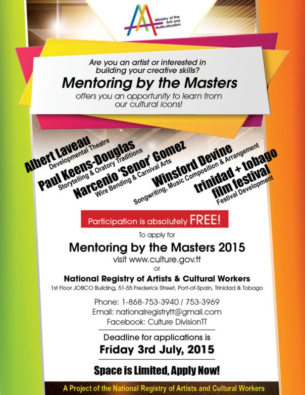 Mentoring by the Masters 2015 Programme Flyer