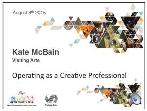 Visiting Arts- Kate McBain