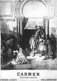 Carmen, l'affiche originale (1875)
