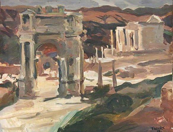François-Raymond Fauck- Ruines d'El Djamila (Algérie)