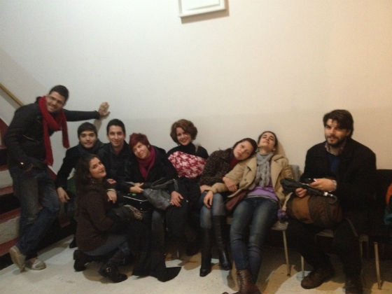 Participants in Panorama Sur, Buenos Aires. Julian Mesri is to the far right.