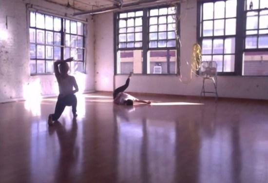 Katie Dean and Heather Bregman in rehearsal