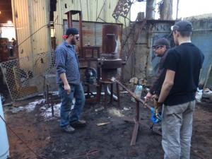 Preparing for an iron pour at the University of Kentucky. Photo by Edward Sharp.