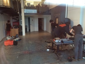 Setting up with Neil Griess at Kent Bellows Studios
