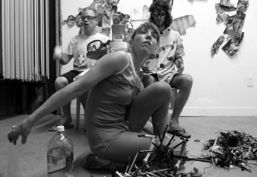 Paige Martin performing with Asparagus Piss Raindrop, 2012