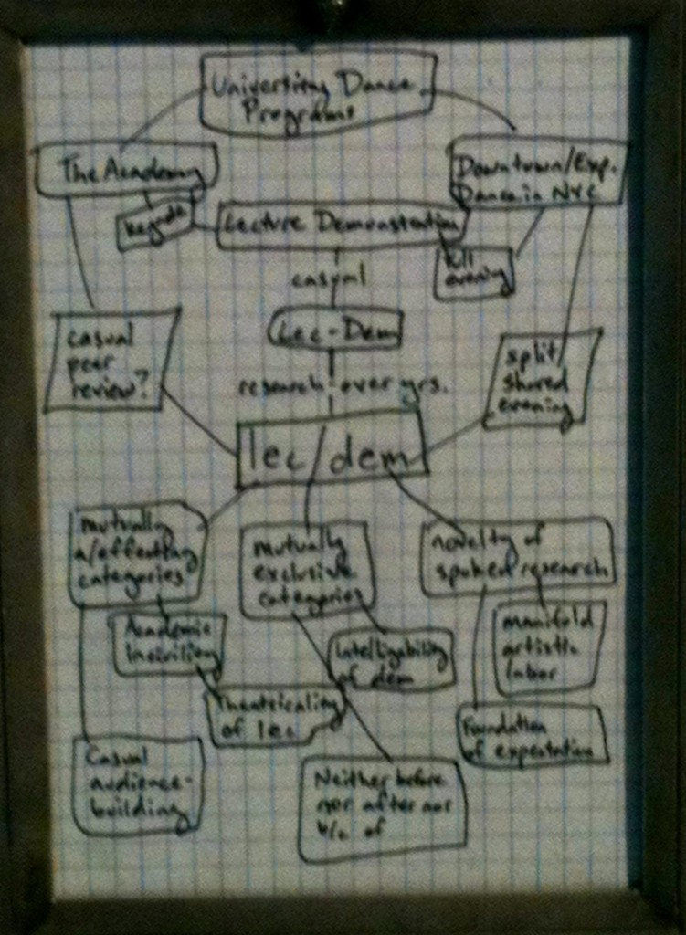 Conceptual framework for lec/dem. Photo by Tara Sheena, courtesy of Kyli Kleven.