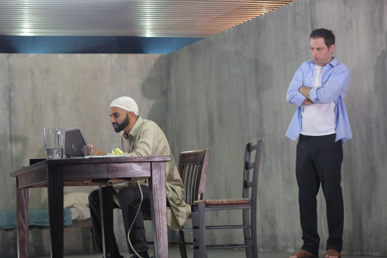 The Invisible Hand by Ayad Akhtar at New York Theatre Workshop. Photograph: Joan Marcus